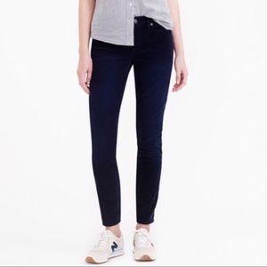 J. CREW-Toothpick Ankle Jean in Dark Blue Velvet